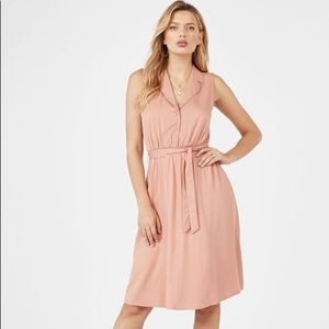 JustFab Rose Sleeveless Button Up Dress | Size 1X